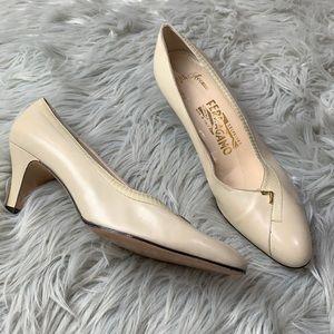 Salvatore Ferragamo leather heels size 9.5